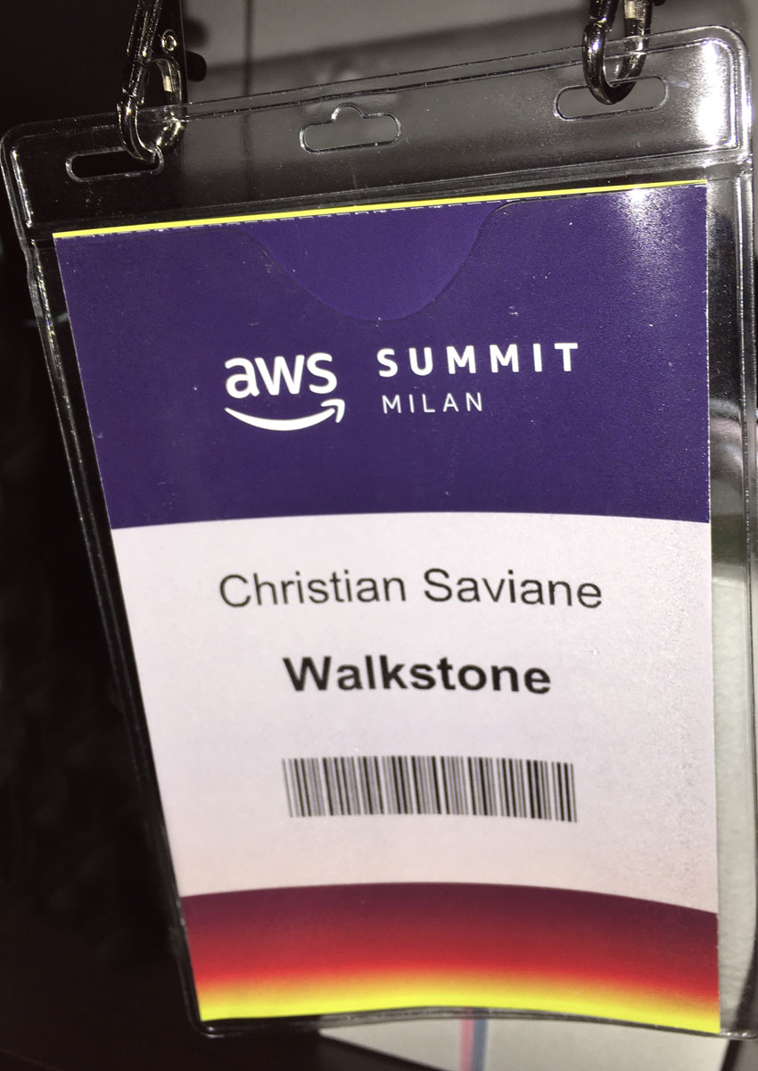 Amazon AWS Summit 2018 - Badge